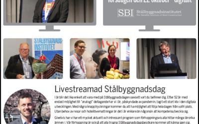 Stålbyggnadsdagen 2020 – helt digitalt den 22 oktober