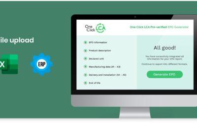 EPD Generatorn One Click LCA tillgänglig via SBI
