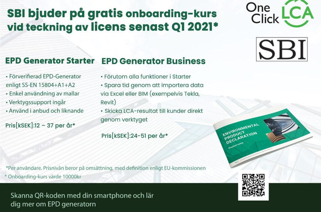 EPD-generator för stålbyggnadsbranschen