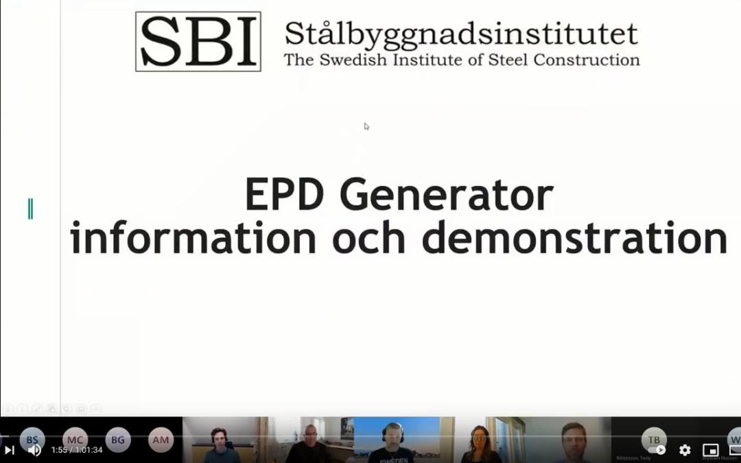 Seminarium om EPD:er och EPD-generator