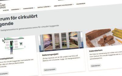 Ny och bättre webbplats hos Centrum för cirkulärt byggande