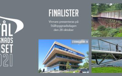 Tre finalister till Stålbyggnadspriset 2021